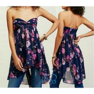 Free People Tops - FREE PEOPLE Mirage Floral Tunic Top